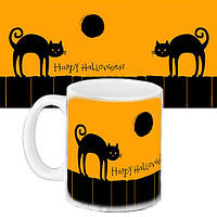 Чашка Moderika белая с рисунком Хеллоуин (33425)