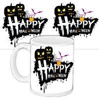 Чашка Moderika белая с рисунком Хеллоуин (33426)
