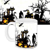Чашка Moderika белая с рисунком Хеллоуин (33428)
