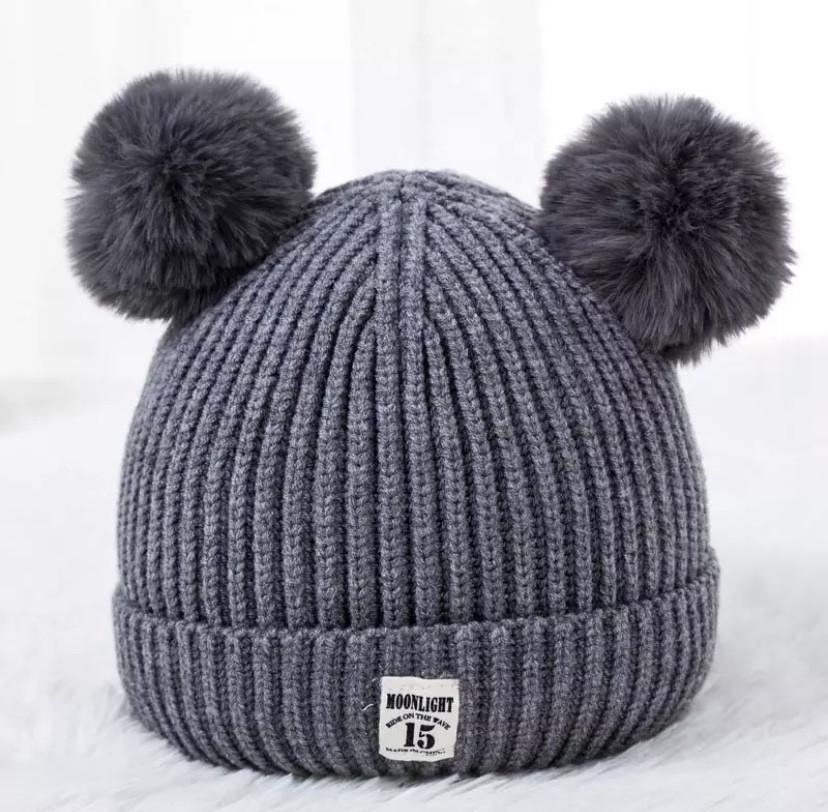 Осеняя шапка 783 Серая