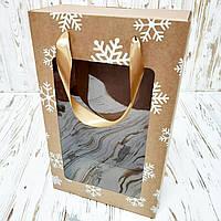 Коробка подарункова новорічна 350х210х100 мм. з пакетом, фото 1