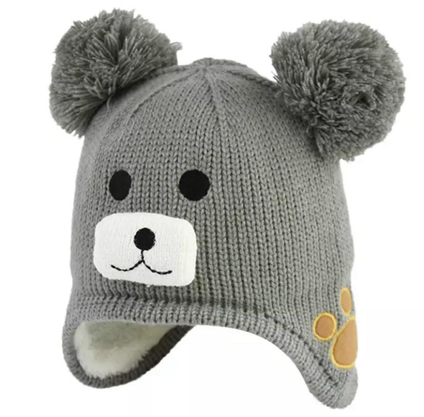 Зимняя шапка 1037 Серая