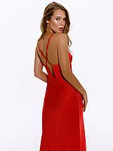 Сукня комбінація жіноче на бретелях AniTi 123, червоний, фото 2