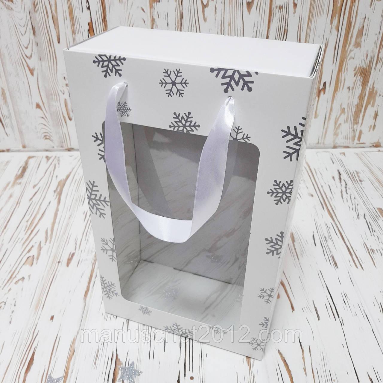 Коробка подарочная новогодняя  350х210х100 мм. с пакетом
