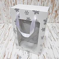 Коробка подарочная новогодняя  350х210х100 мм. с пакетом, фото 1