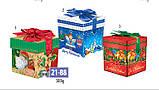 Картонна подарункова упаковка, Новорічний кубик, Merry Cristmas, 300 грам, фото 2