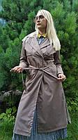 Плащ женский пальто куртка длинный весна осень демисезонный тонкий оверсайз