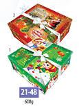 Коробка новогодняя, Шкатулка, 20х20х5,7 см, Картонная упаковка для конфет, 20х20х5,7 см, фото 2