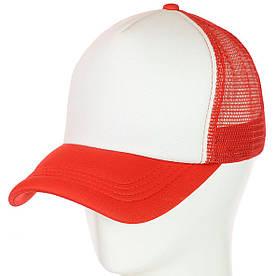 Бейсболка 62017-1 білий-червоний