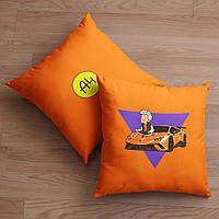 Оранжевая подушка Влад А4 (Ламба)
