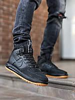 Кроссовки мужские Nike черные кожа