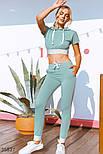 Спортивный костюм с коротким топом мятный, фото 2