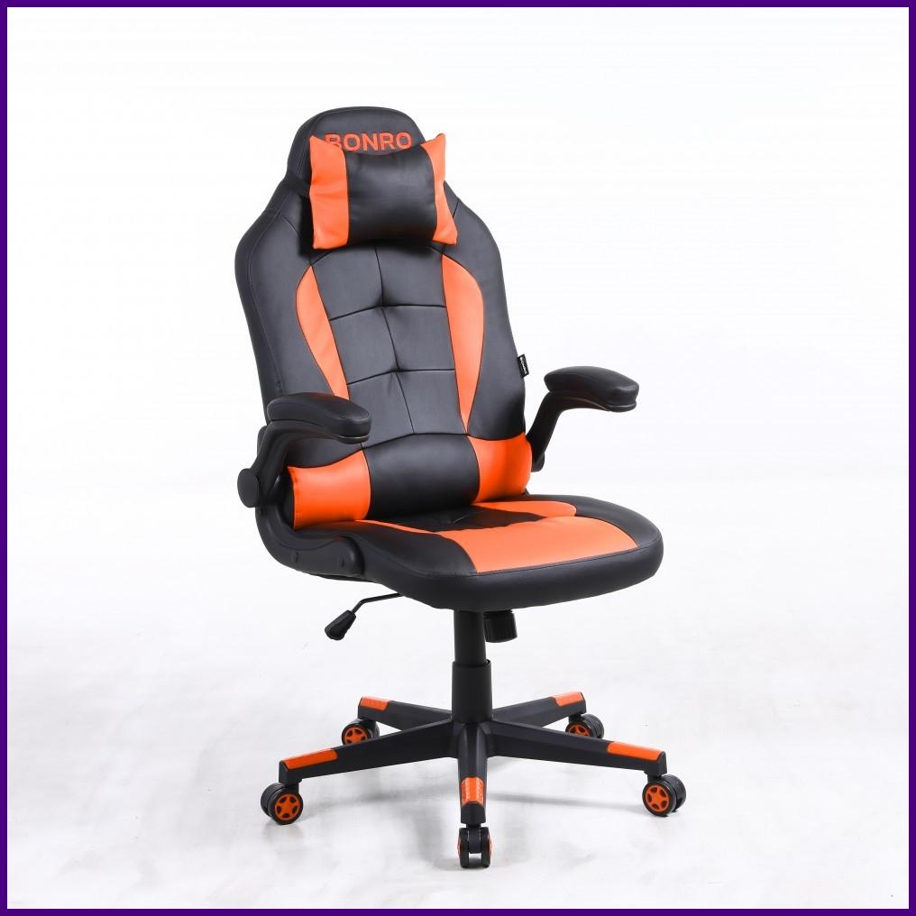 Кресло Офисное Компьютерное BONRO - Office 1 Черно-оранжевое