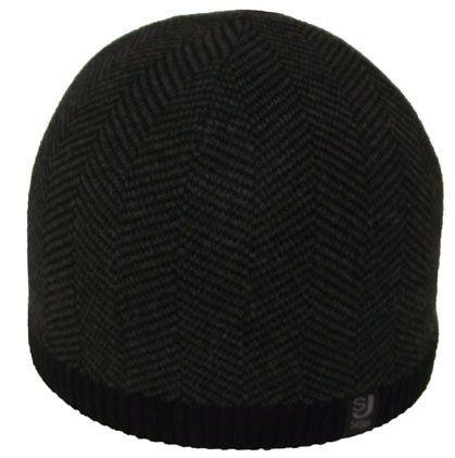 Шапка 12024 черный-тсерый