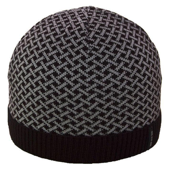 Шапка 12032 черный-свсерый