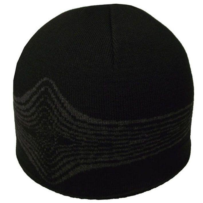 Шапка 12083 черный-тсерый