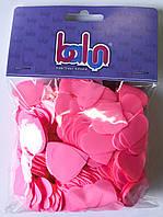 Конфетти розовое (сердечко) 50 грамм