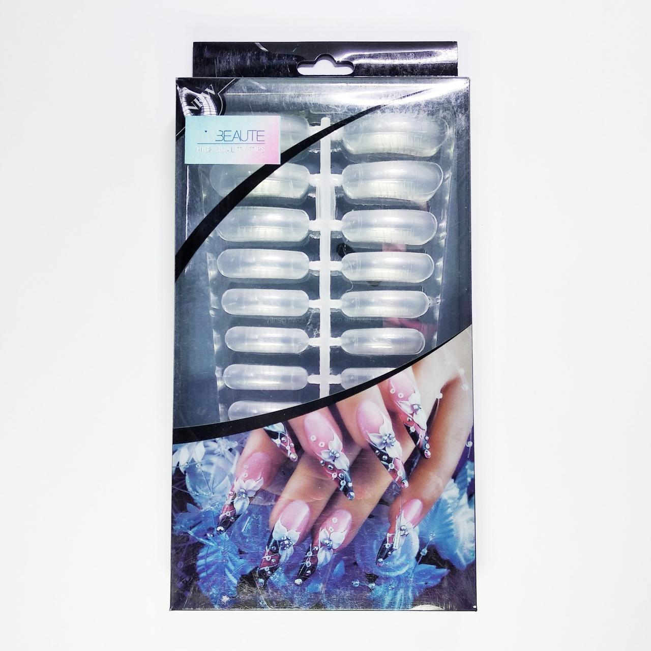 Верхние формы для наращивания ногтей полигелем Lilly Beaute, 240шт
