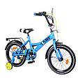 """Велосипед двоколісний Explorer 16"""" (блакитний колір) зі страхувальними колесами, фото 2"""