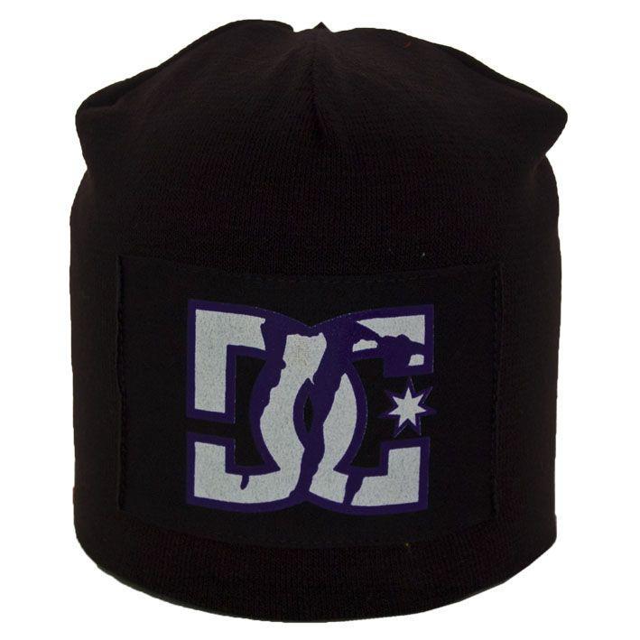 Шапка NZ14042 чорний-фіолетовий