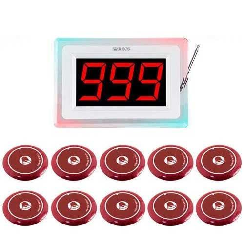 Система виклику офіціанта RECS №98 | кнопки виклику офіціанта 10 шт + приймач викликів