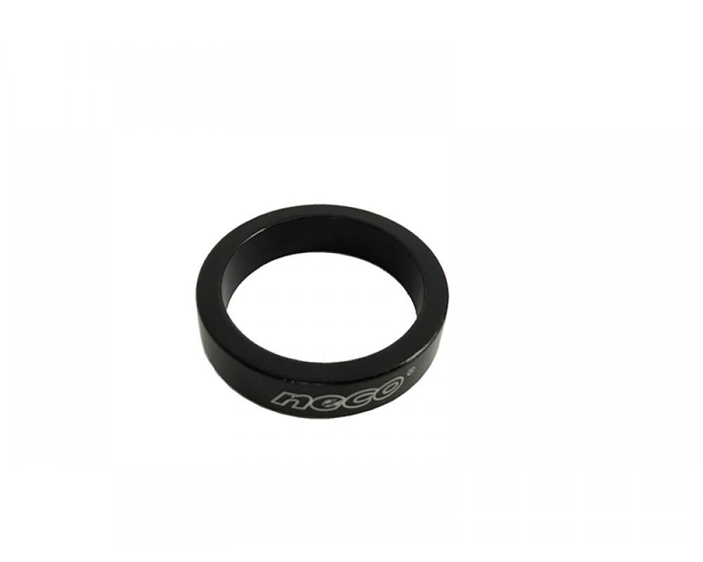 Кільце проставочне на рульову колонку NECO 1-1/8'' 8мм, (AS3608)  чорний