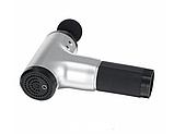 Аккумуляторный портативный ручной массажер для тела Fascial Gun MP-320 Red, фото 2