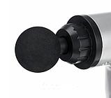 Аккумуляторный портативный ручной массажер для тела Fascial Gun MP-320 Red, фото 5