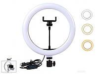 Распродажа! Светодиодное селфи кольцо с держателем телефона Ring Fill Light YQ-320, (лед лампа для селфі), фото 1