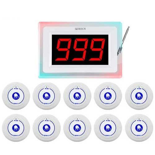 Система вызова медперсонала RECS №96 | кнопки вызова медсестры 10 шт + приемник вызова персонала