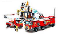 Конструктор пожарная серия (тушение пожара) 996 деталей