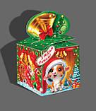 Коробка подарункова, Веселий сніговик, Картонна упаковка для цукерок, 700 грам, фото 2