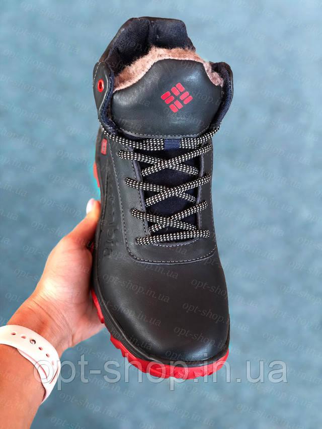 Ботинки зимние детские подростковые кожаные для/на мальчика в стиле Timberland  черевики зимові на хлопчика