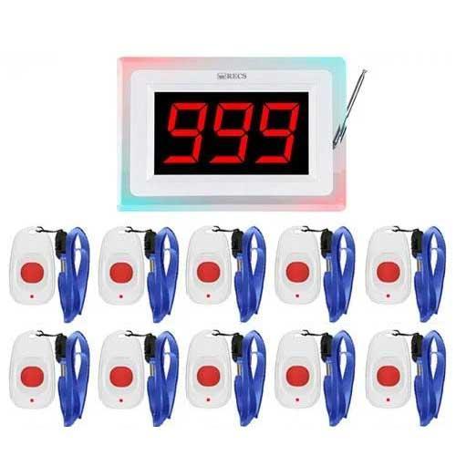 Система вызова медперсонала RECS №73   кнопки вызова медсестры 5 шт + приемник вызова персонала