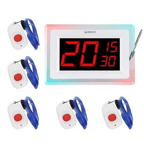 Система вызова медперсонала RECS №71 | кнопки вызова медсестры 5 шт + приемник вызова персонала на 3 вызова
