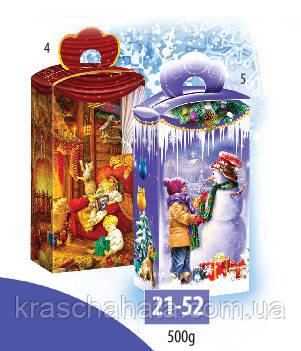 Новогодняя коробка, Новогодний вечер, 500 гр, Картонная упаковка для конфет