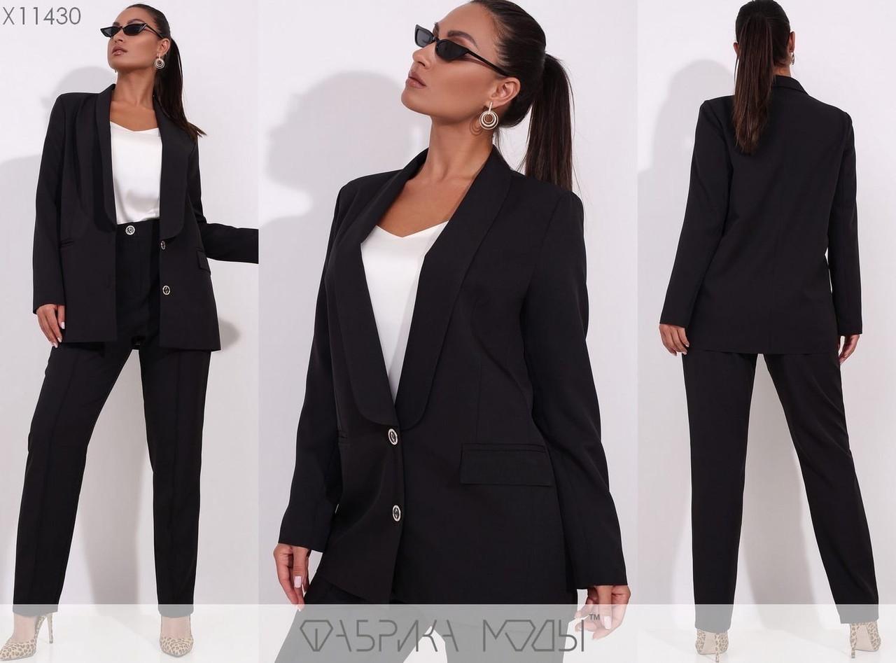 Деловой женский костюм, черный