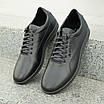 Мужские кожаные туфли   спортивные    39-46 чёрный, фото 2