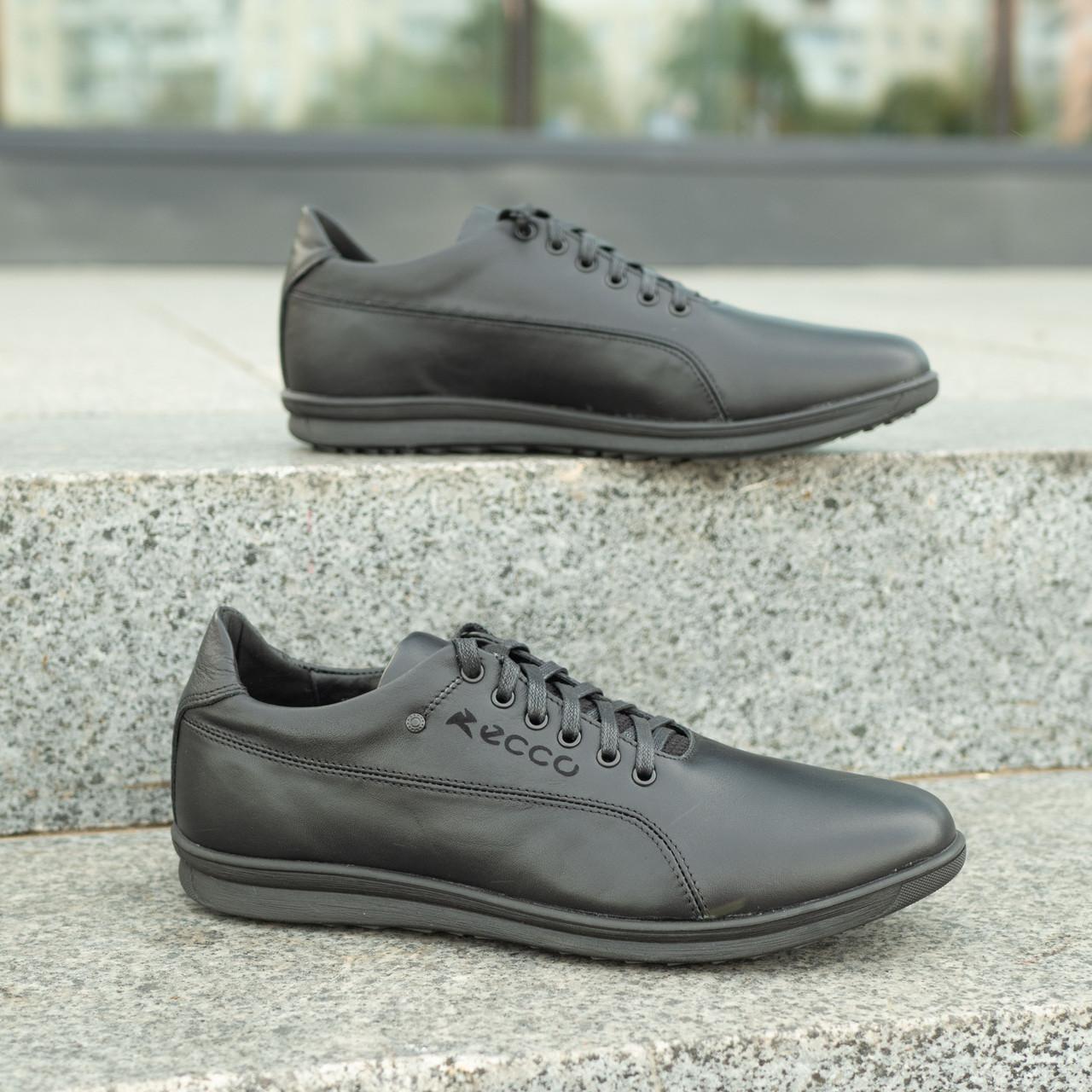 Мужские кожаные туфли   спортивные    39-46 чёрный