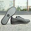 Мужские кожаные туфли   спортивные    39-46 чёрный, фото 4