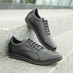 Мужские кожаные туфли   спортивные    39-46 чёрный, фото 3