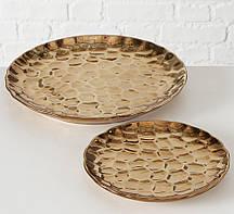 Набор 2х подносов керамика золото Гранд Презент 2002502
