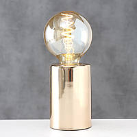 "Настольная лампа ночник ""Тесла"" металл золото 12*8 см Гранд Презент 2006259, фото 1"