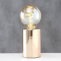 "Комплект светильник и лампа ночник ""Тесла"" металл золото 12*8 см Гранд Презент 2006259"