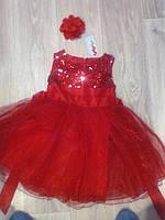 Шикарное пышное детское нарядное платье на выпускной, на праздник красное