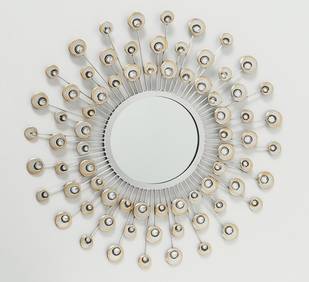 Настенный декор зеркало Расмус шампанское d82см Гранд Презент 7642200