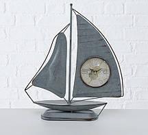 Настольные часы Парусник металл серый h40см Гранд Презент 1021685-1С