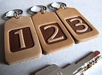 Номерок шкіряний для ключів