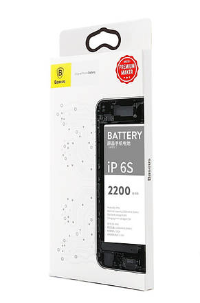 Батарея Baseus Original для iPhone 6S 3.82 V 2200mAh High Volume (ACCB-BIP6S), фото 3