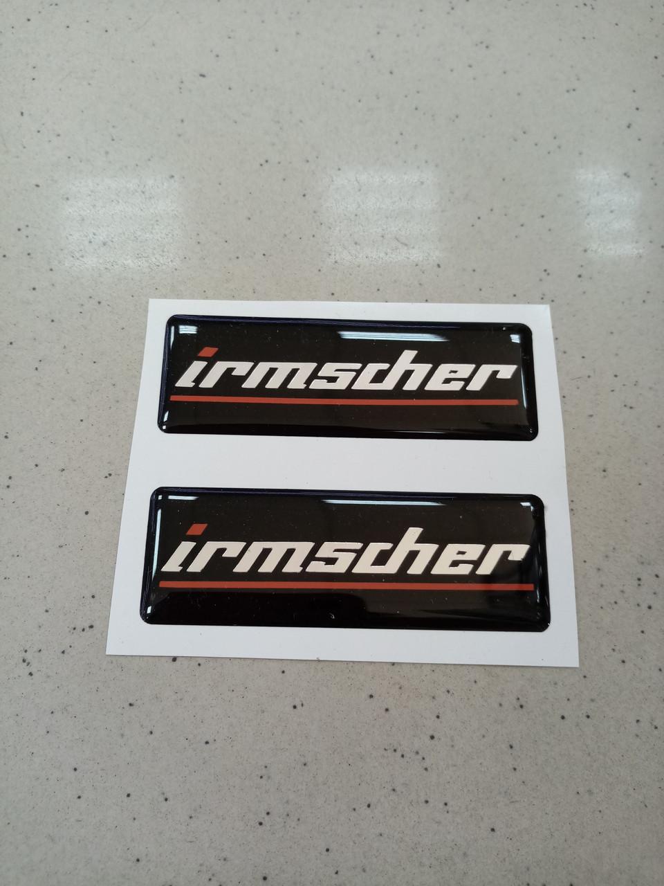 Заказ покупателя силиконовые 3D наклейки IRMSCHER